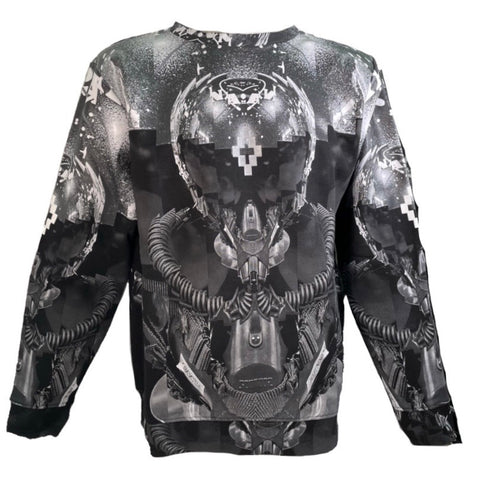 "Marcelo Burlon two-tone All over sweatshirt with ""Robot"" print, L"