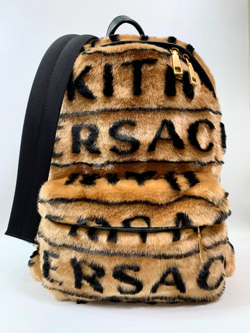 Versace for Kith faux fur backpack