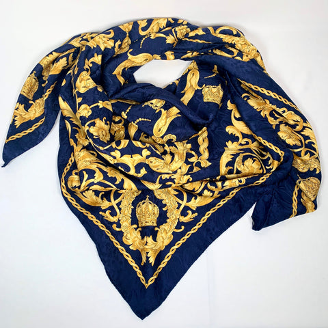 Gianni Versace Acanthus baroque print silk scarf-stole