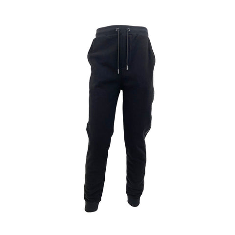 Karl Largerfeld, black jogging trousers with side bands, M
