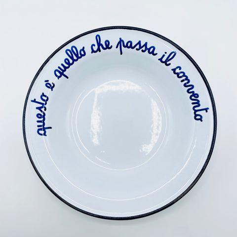 "Grandma's dishes ""This is what passes the convent""."