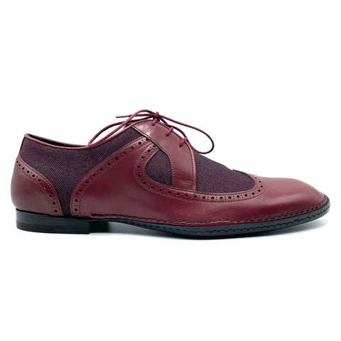 Bottega veneta lace-up in amaranth leather