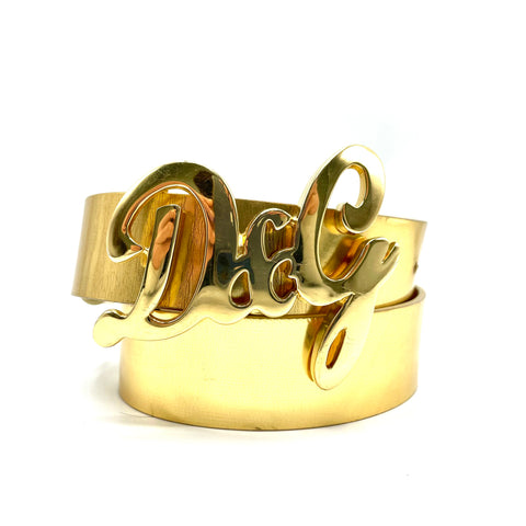 Dolce & Gabbana gold-colored leather belt