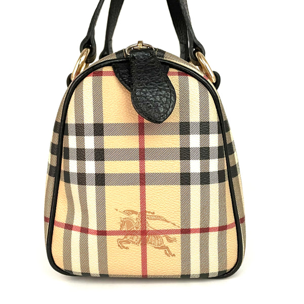 Burberry bauletto in pelle stampa Check
