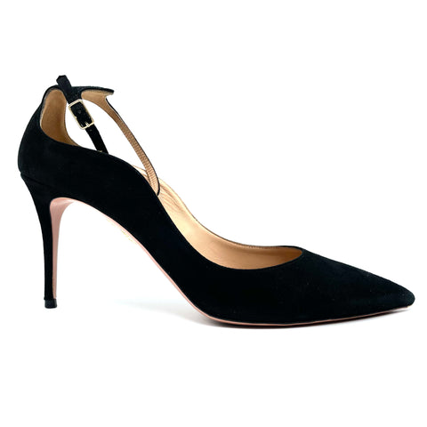 Acquazzura Pumps in black suede with adjustable strap, 41