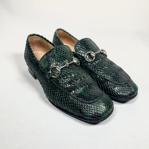 Gucci, Jordaan python leather loafer, 37.5