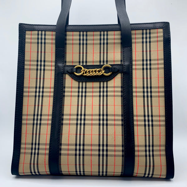 Burberry, tote bag check The Link