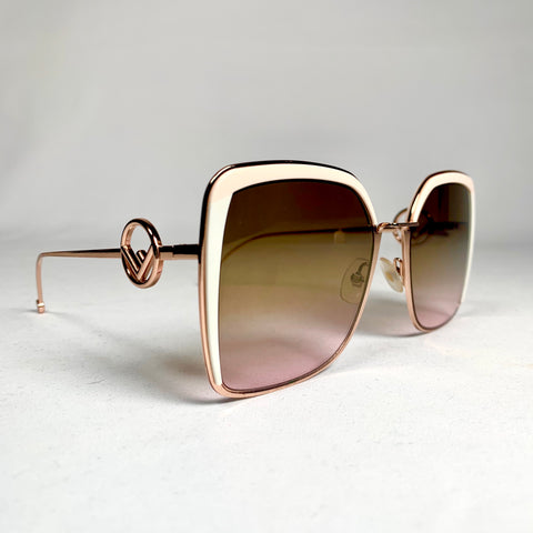 Fendi, oversized rose gold sunglasses
