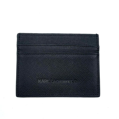 Karl Lagerfeld card holder in black leather