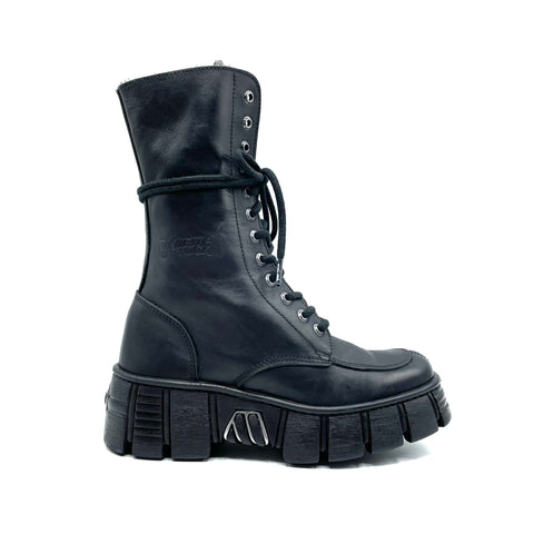 New Rock stivaletto in pelle nera, 37