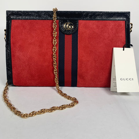 Gucci, Ophidia bag in red suede
