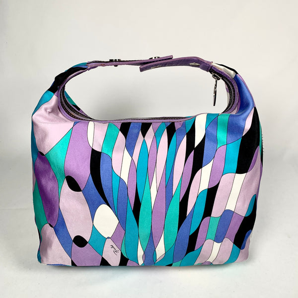 Borsa vintage in tela multicolor
