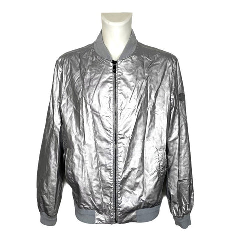 Versace Collection bomber argento, tg.54