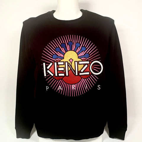 Kenzo felpa in cotone con maxi patch multicolor, S