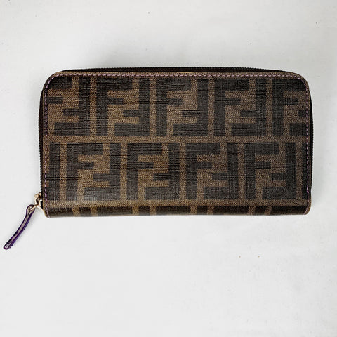 Fendi, continental wallet in FF leather
