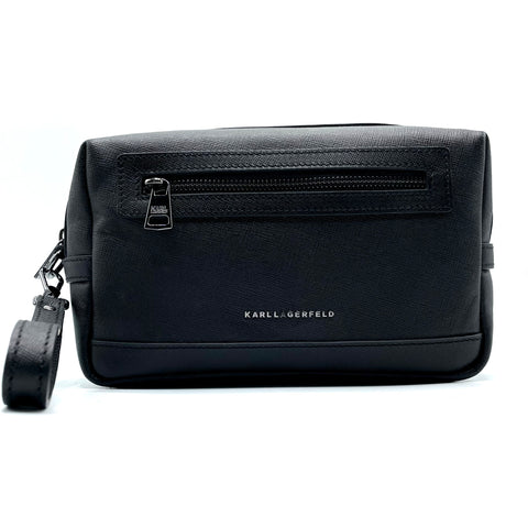 Karl Lagerfeld leather wristlet clutch bag