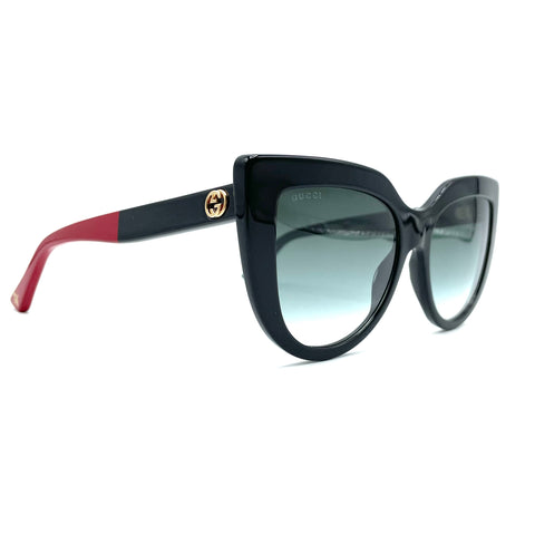 Gucci occhiale da sole black GG0163 cat aye