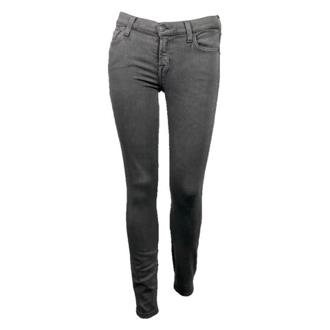 7 for all Mankind pantalone denim skinny grigio, 25