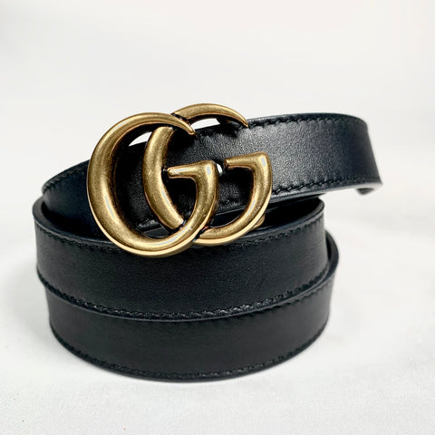 Gucci 2 cm belt with GG buckle, 80