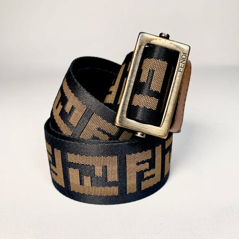 Fendi belt in FF monogram canvas