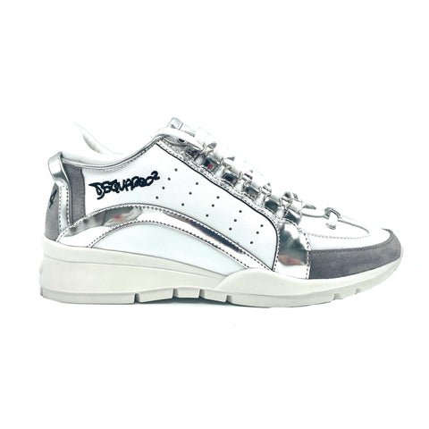 "Dsquared2 sneakers ""551"" in pelle bianca, 38"