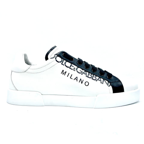 Dolce & Gabbana Portofino in white-black leather, 41.5