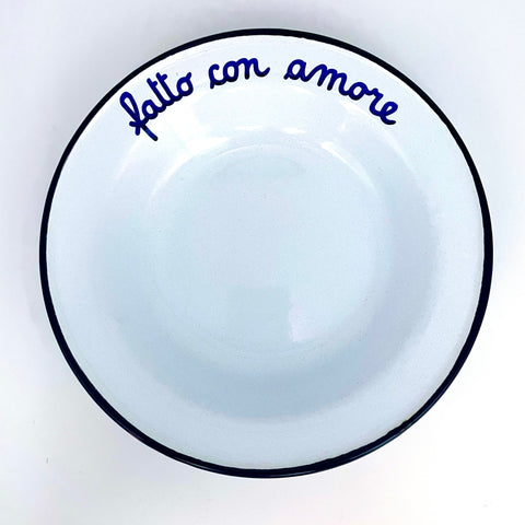 "Grandma's dishes ""Made with love""."
