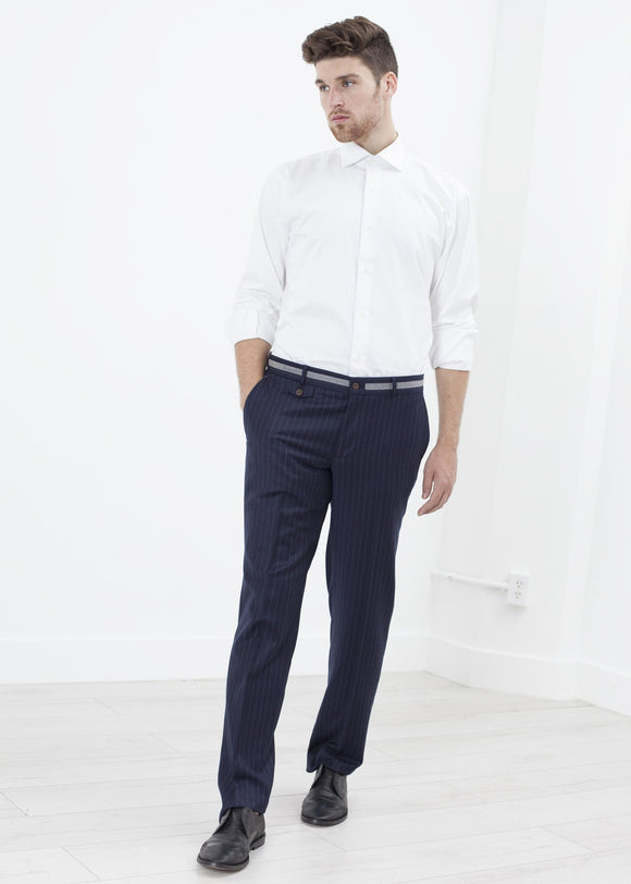 Sinclair Trouser in Navy Stripe
