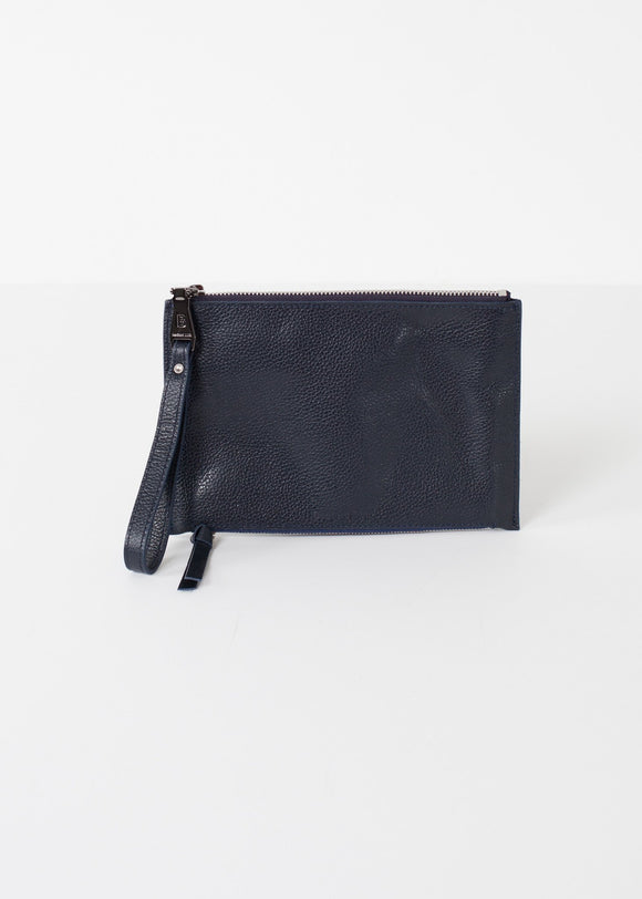 Double Zip Clutch