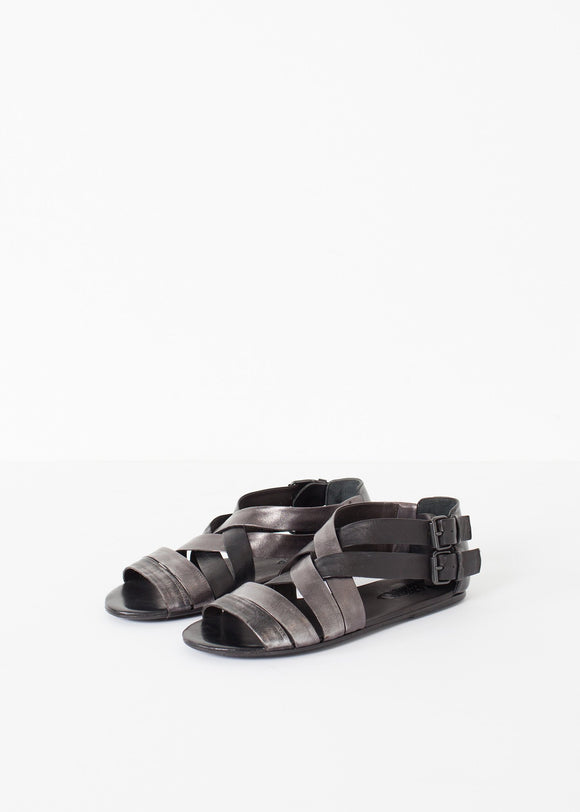 Wrap Sandal in Black/Steel