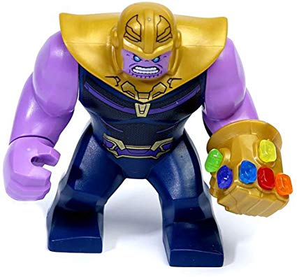 LEGO Thanos Minifigure Avengers End Game w/ Complete Infinity Stones Gauntlet