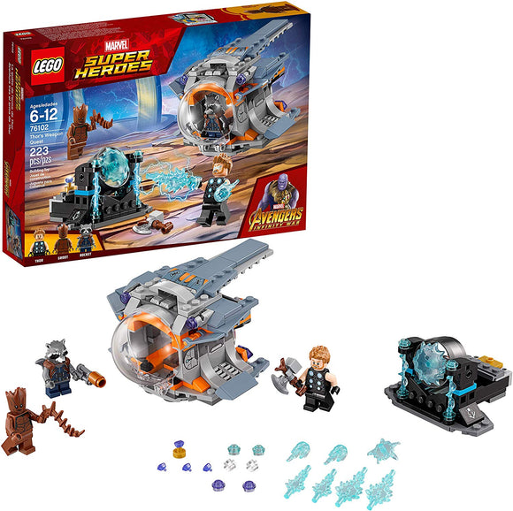 LEGO Marvel Super Heroes Avengers: Infinity War Thor's Weapon Quest Set 76102 Building Kit (223 Pieces)