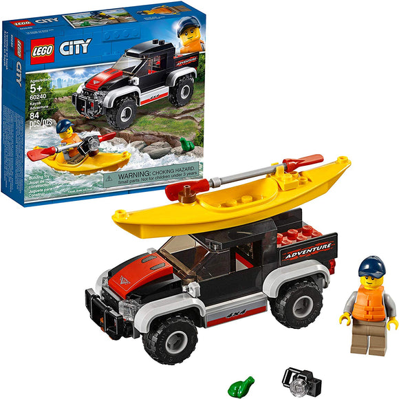 LEGO City Great Vehicles Kayak Adventure Set 60240 Building Kit (84 Pieces)