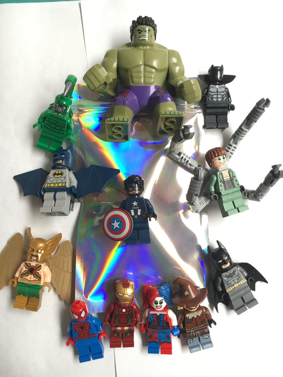 Super Heroes BLIND MINIFIGURE BAG $10-$50 Value Figures! Batman Spider-man DC Marvel Captain America X-men
