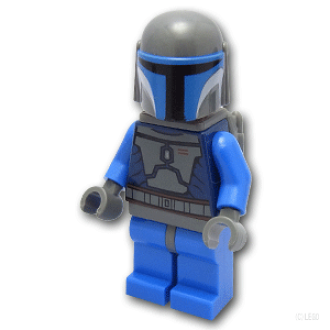LEGO Mandalorian Star Wars Classic Minifigure Blue Suit - Set 7914 Mando