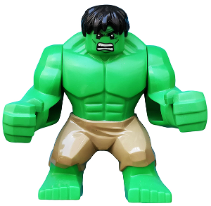 LEGO Hulk Minifigure - from Set 6868 Original Tan pants Big-Fig