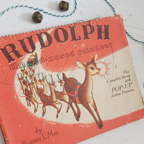 Vintage Rudolph the Red-Nosed Reindeer book