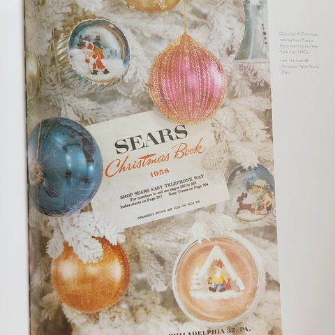 Sears Christmas book image from Midcentury Christmas by Sarah Archer