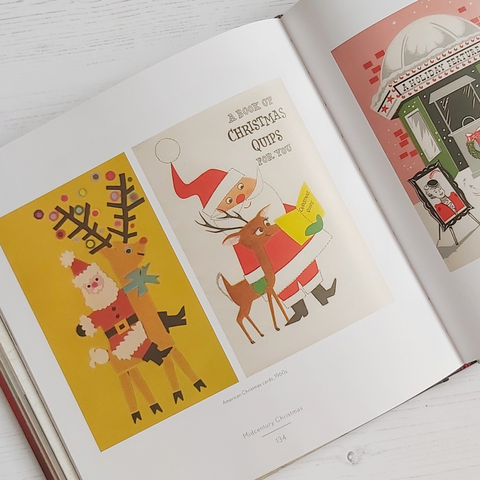 Kitschy vintage Christmas card images in Midcentury Christmas by Sarah Archer