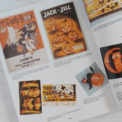 a page full of vintage Halloween items from the book Halloween in America Edition 2
