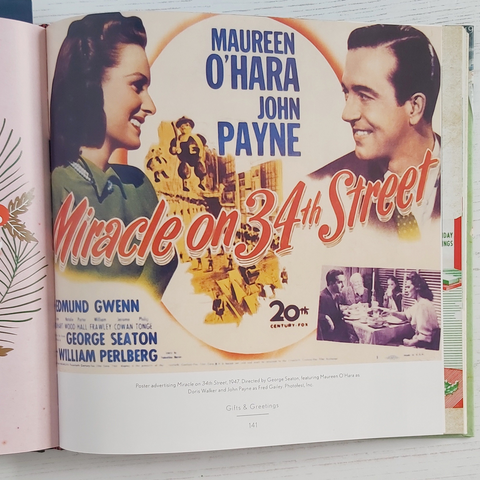 Miracle on 34th Street movie poster image from Midcentury Christmas by Sarah Archer