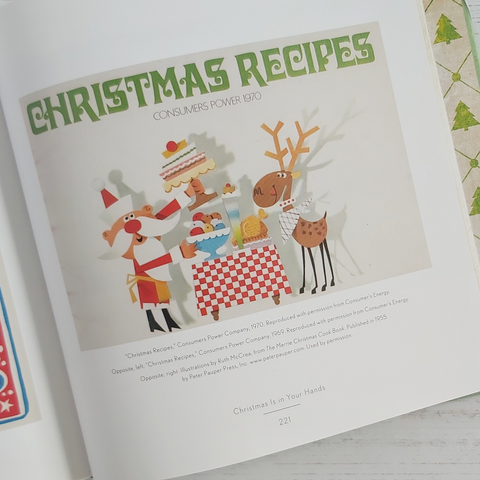 Santa and reindeer image in Midcentury Christmas by Sarah Archer