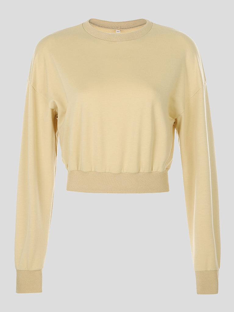 Bone Gold Cates Cropped Sweatshirt
