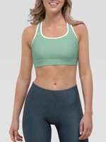 Pastel Green Alpha Padded Sports Bra