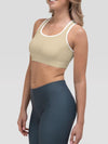 Pastel Yellow Alpha Padded Sports Bra