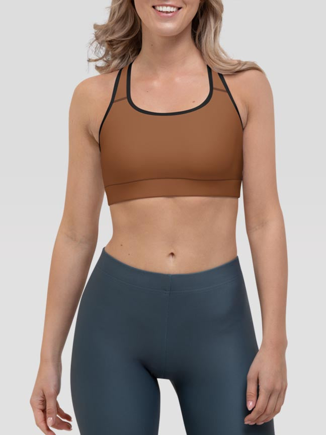 Toffee Clash Sports Bra
