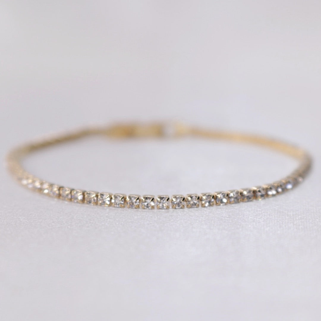 Thin || Gold Clear Tennis