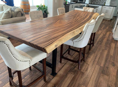 live edge slab dining table