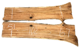 "White Oak Live Edge Slab Bookmatch Set SS-210022 102""L x 59""W x 2""H"