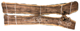 "Black Walnut Live Edge Slab Bookmatch Set SS-210039 130""L x 43""W x 2""H"